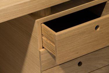 oak executive desk detail 2