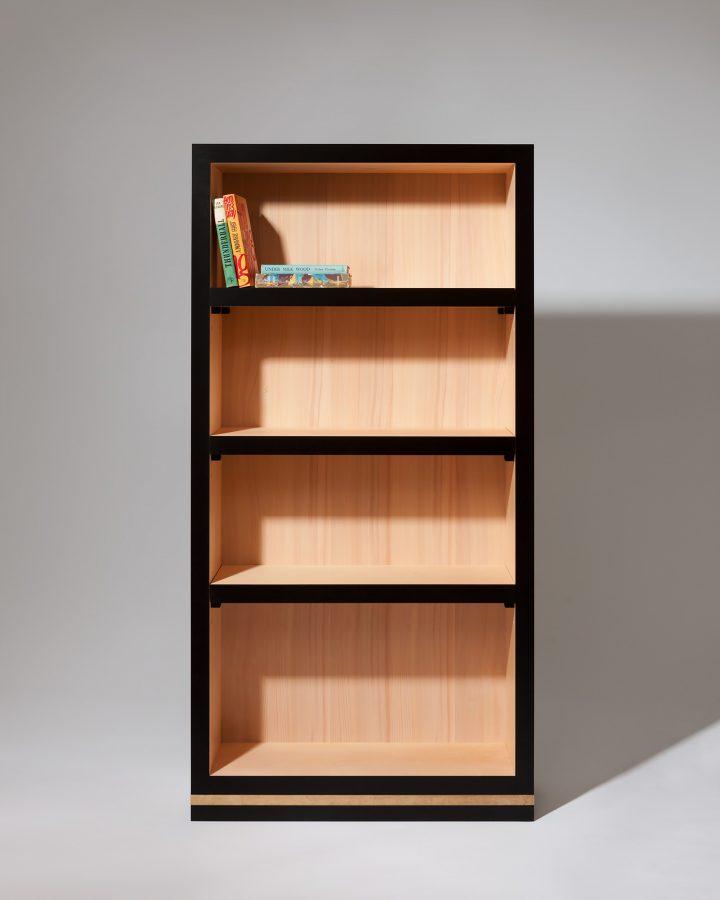ebony and beech bookcase