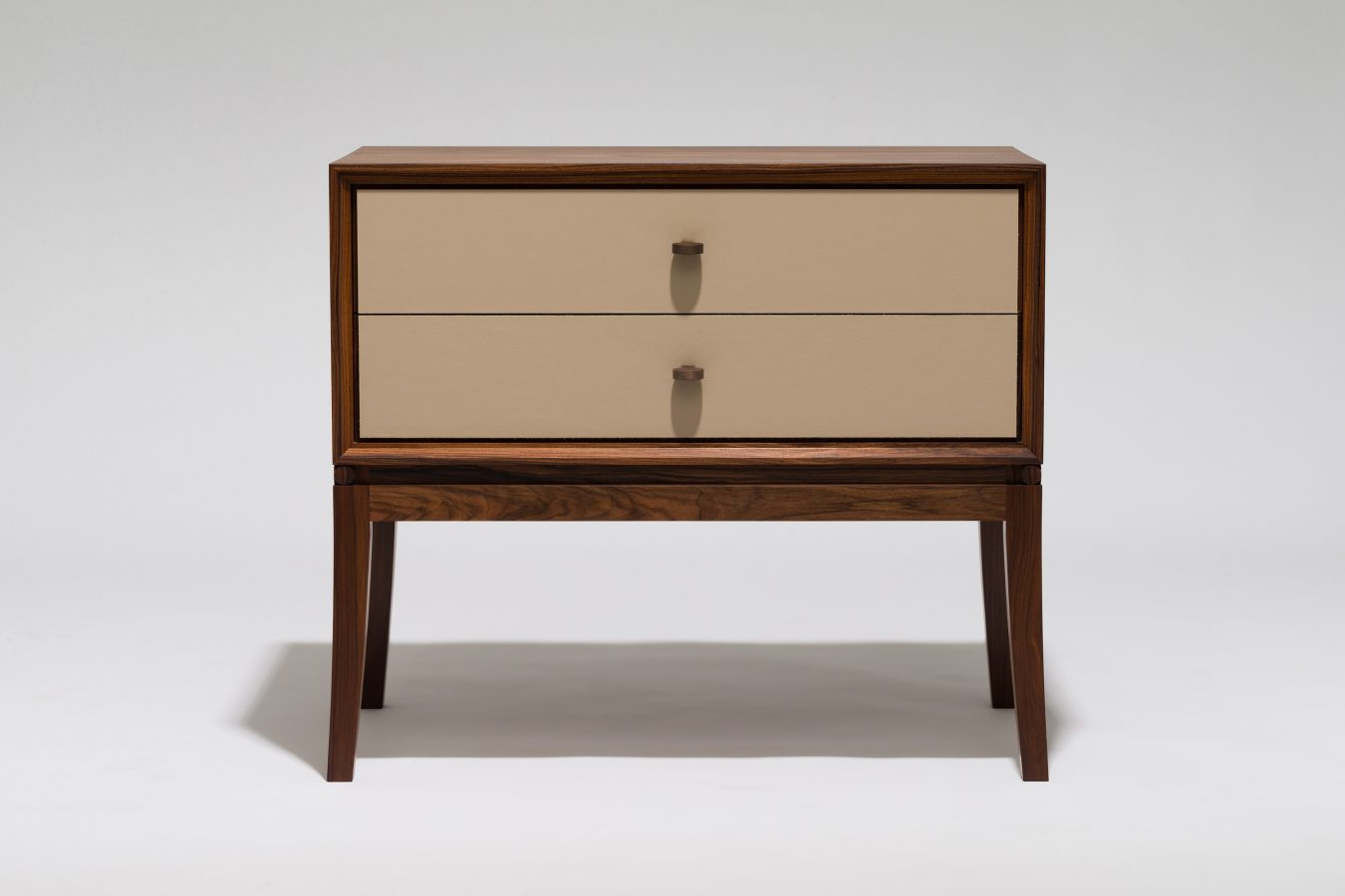 rosewood and leather bedside cabinet single