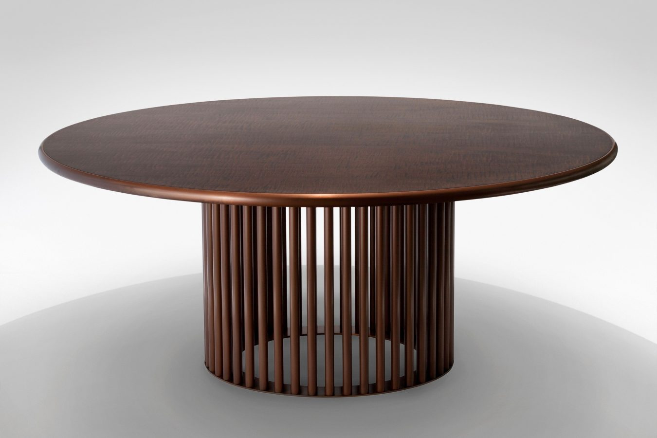 maple and moulded bronze dining table