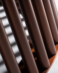 maple and moulded bronze dining table detail 1