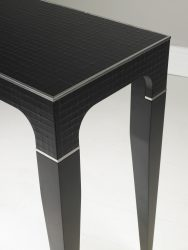 modern console table black detail