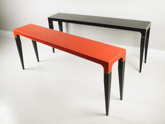 modern console tables black and red