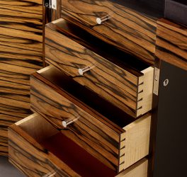 macassar ebony executive desk detail
