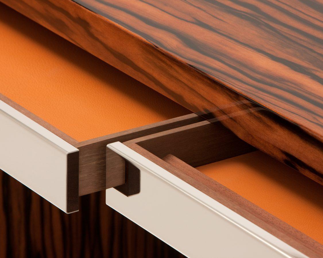 macassar ebony desk detail 1