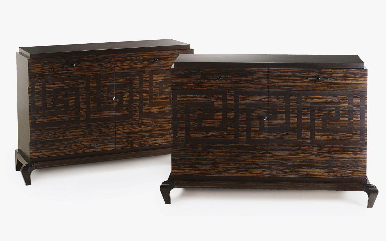 ebony marquetry cabinet