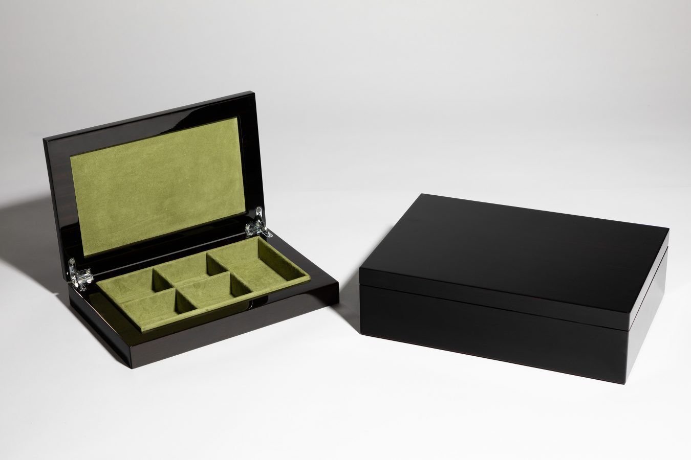 luxury jewellery boxes green suede