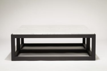 marble and wood coffee table double