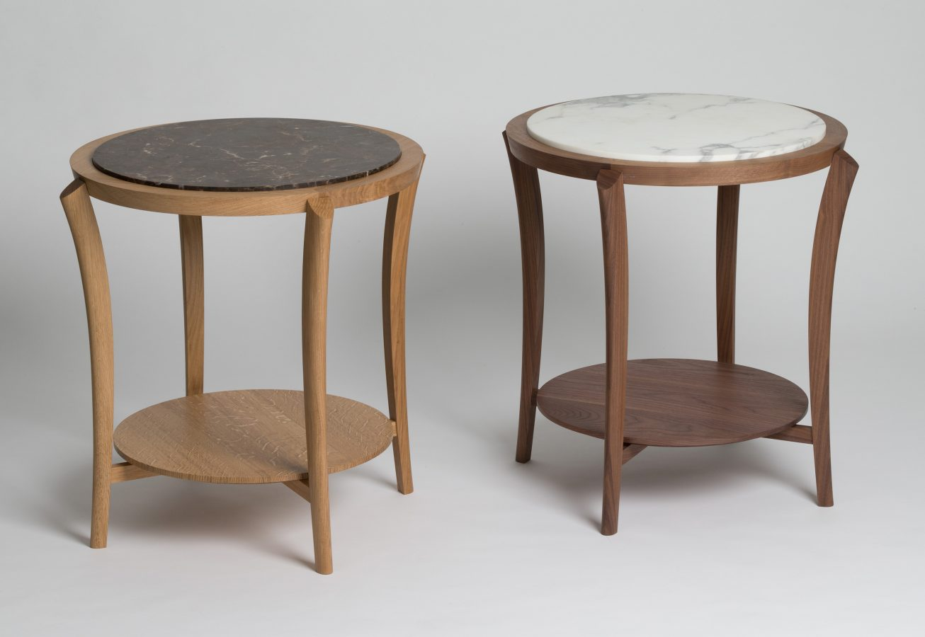 wood marble side tables