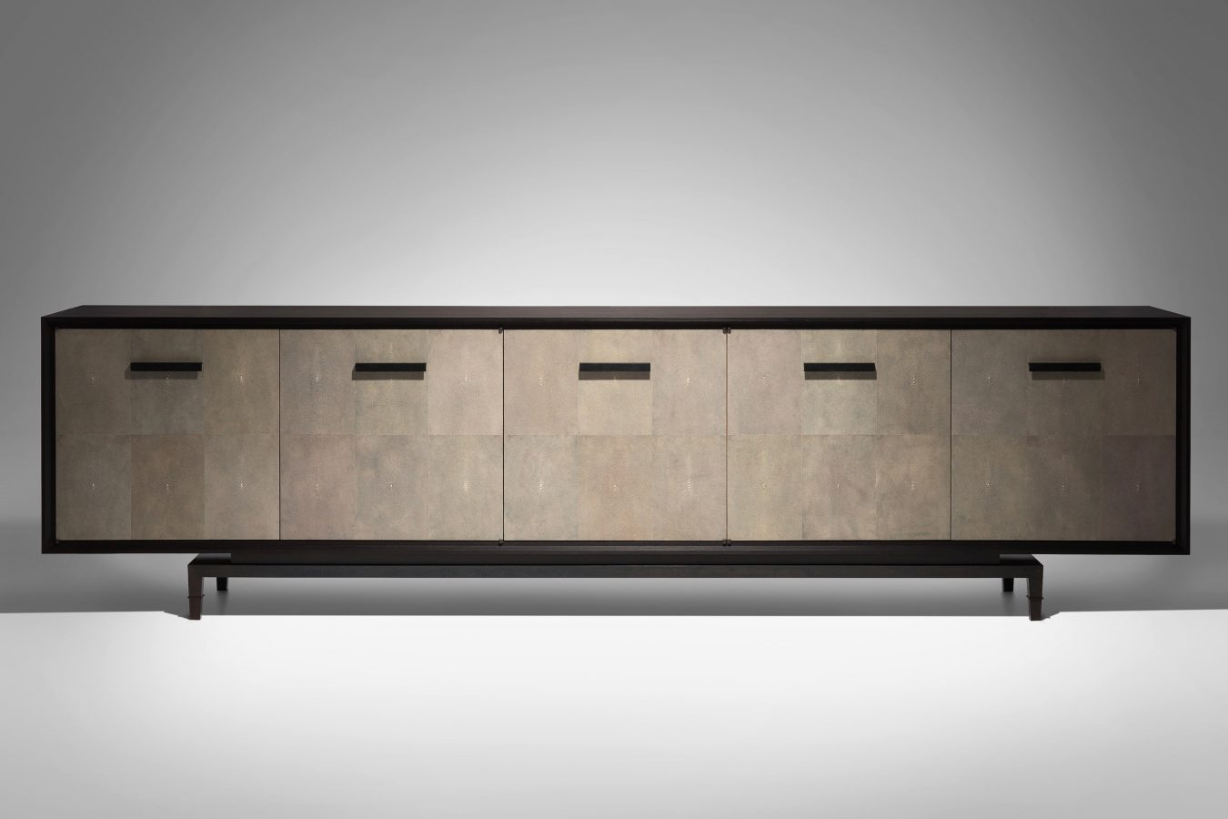shagreen & fumed oak cabinet