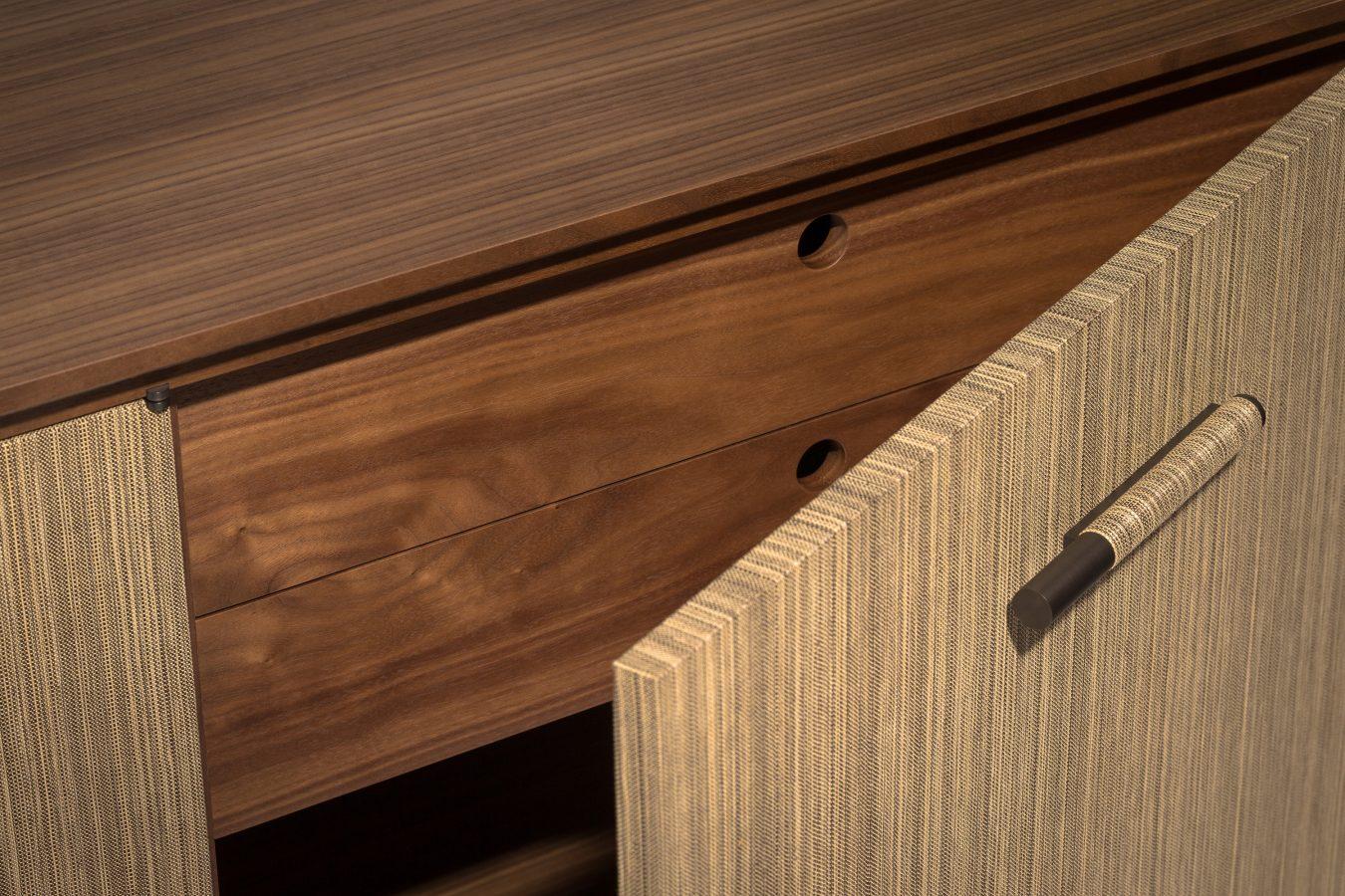 walnut credenza detail 1