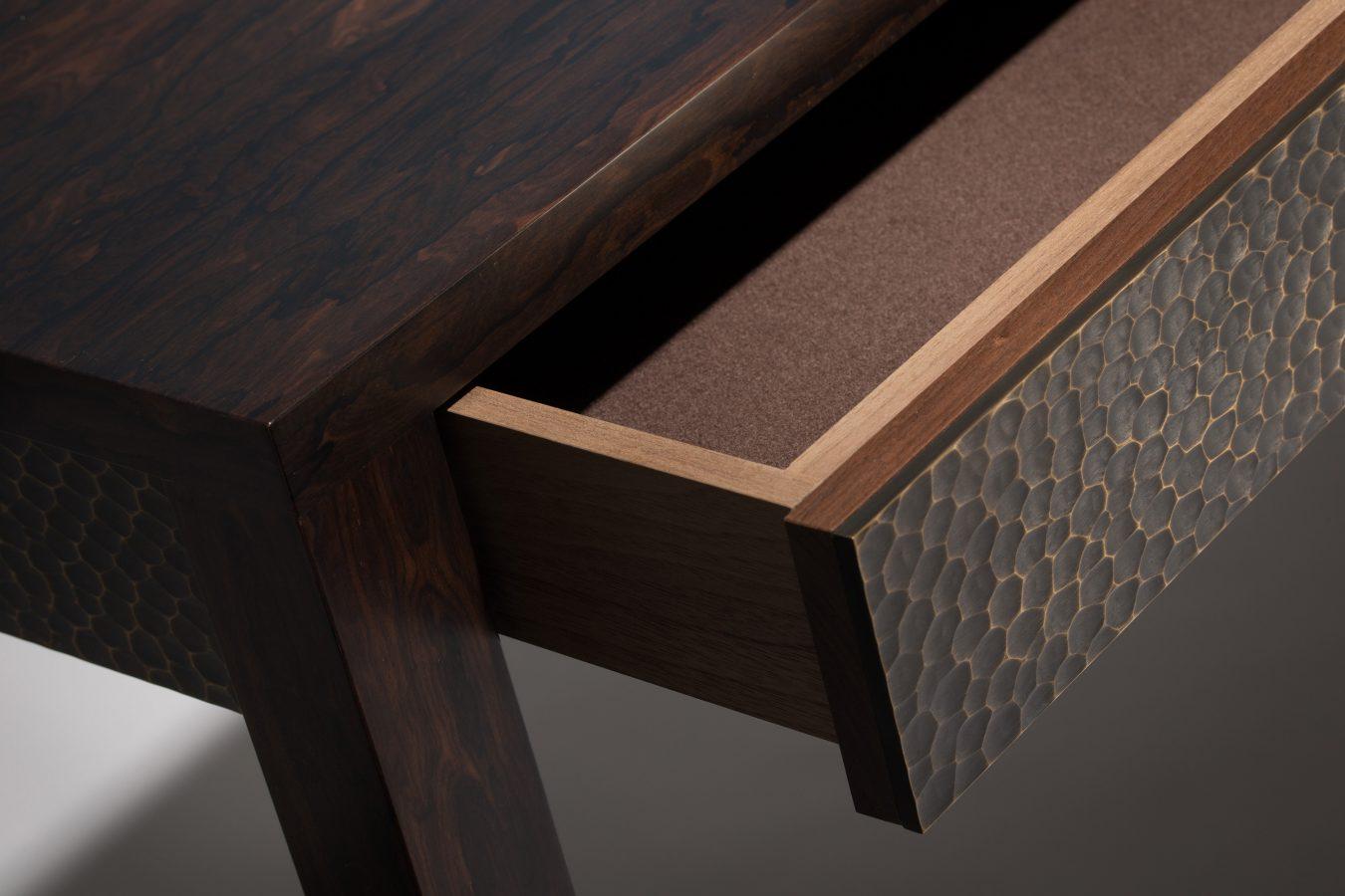 ziricote console table detail 1