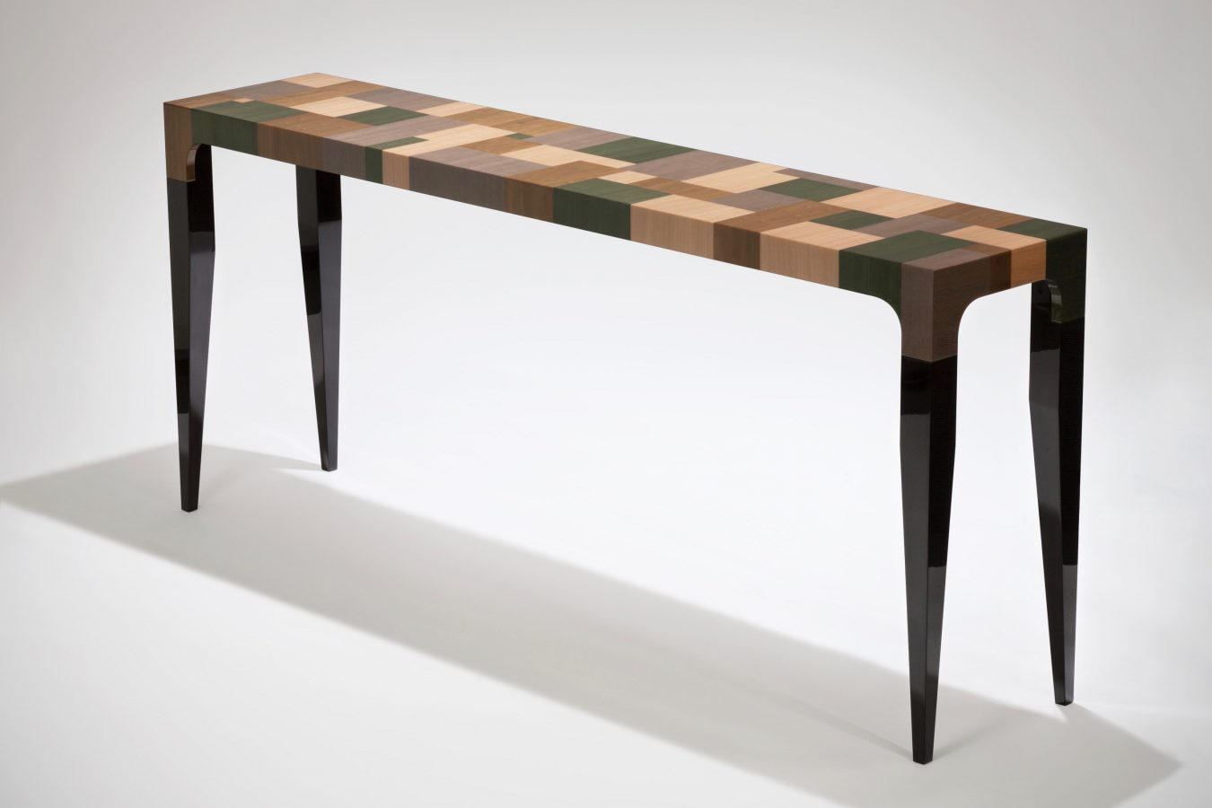 patchwork veneer console table