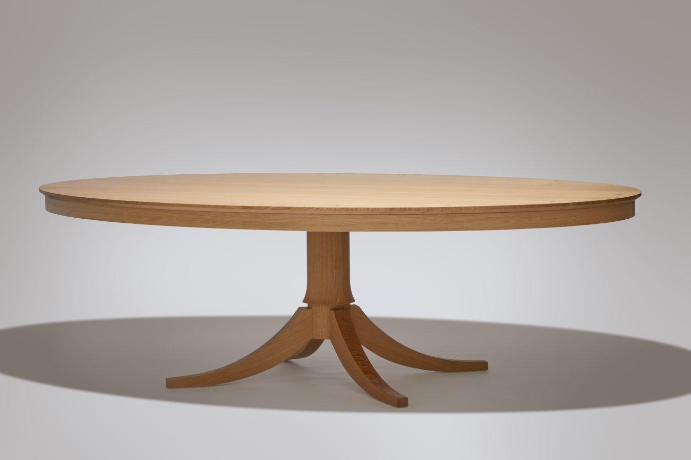 oval oak dining table