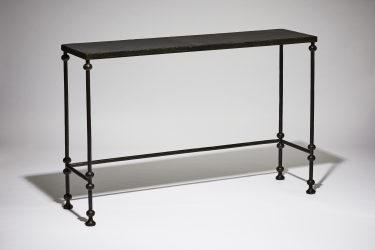 steel and leather console table
